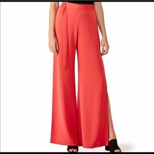 Alexis Side Slit Red Pant size XS
